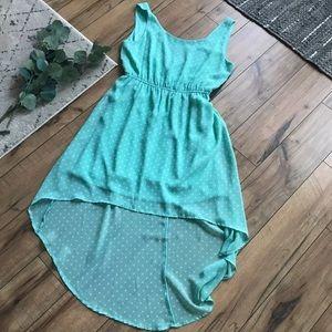 Women's High-low polka dot dress